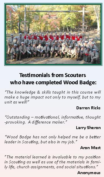 wood badge flyer